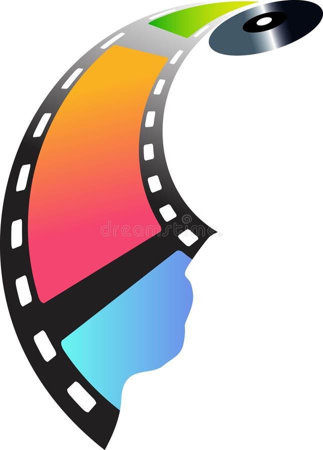 Film zur Platte lizenzfreie abbildung