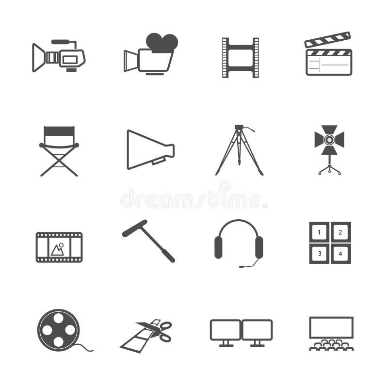 Filma hjälpmedelsymbolsfilm stock illustrationer