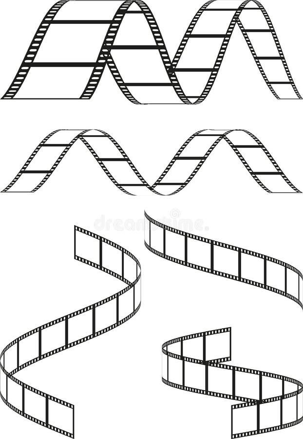Filma remsor royaltyfri illustrationer