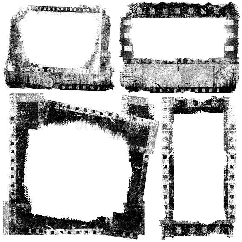 Filma band som grunge inramar vektor illustrationer