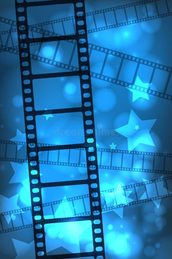 Filmachtergrond stock illustratie