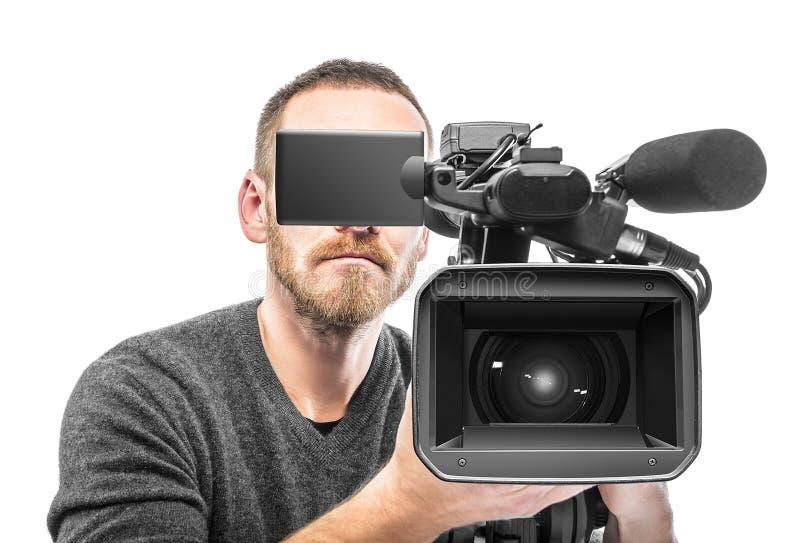 Filmad videokameraoperatör arkivbilder