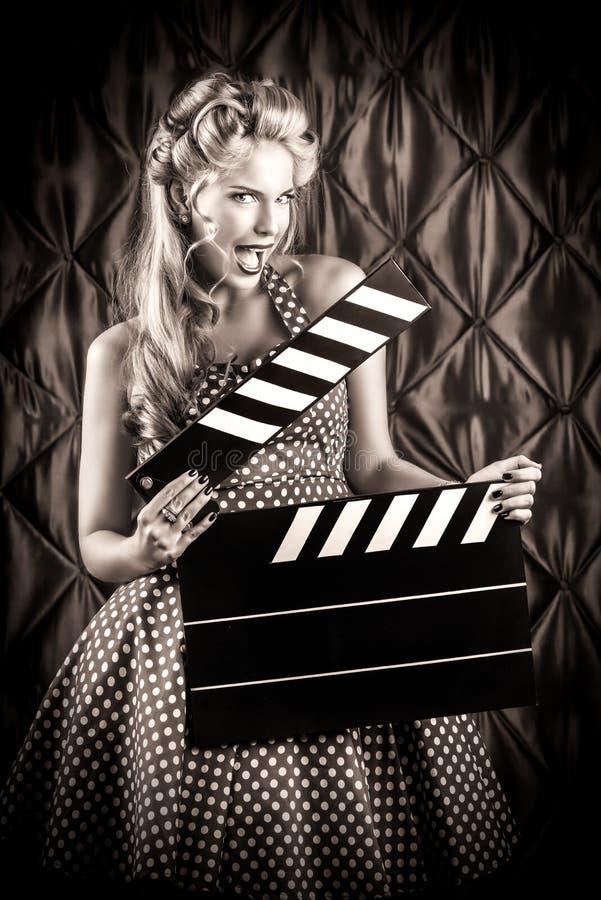 Filmaker do vintage fotografia de stock