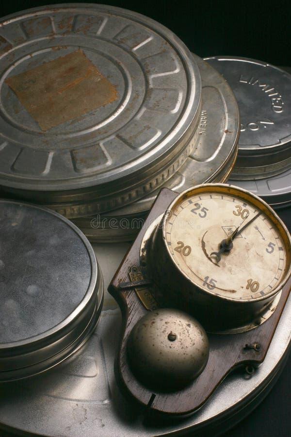 Filmaskar med utvecklingstidmätaren royaltyfri fotografi