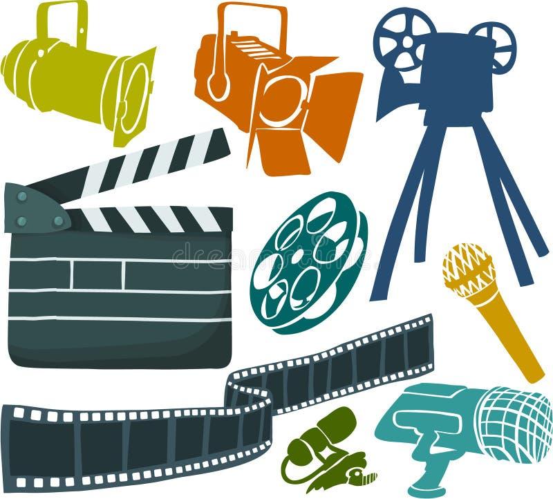 Filmbühne lizenzfreie abbildung