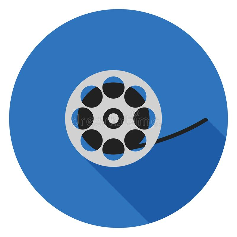 Filmbandikone im flachen Design stockbild