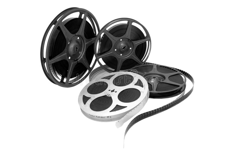 Filmbandspule lizenzfreie stockbilder