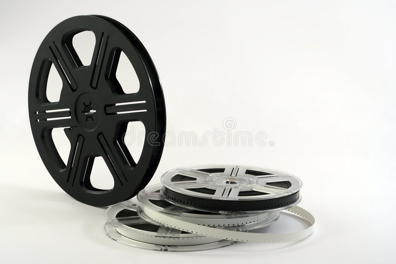 Filmbandspulehintergrund lizenzfreie stockbilder