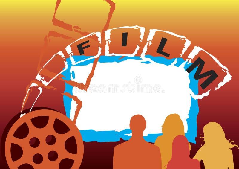 Filmbaner stock illustrationer