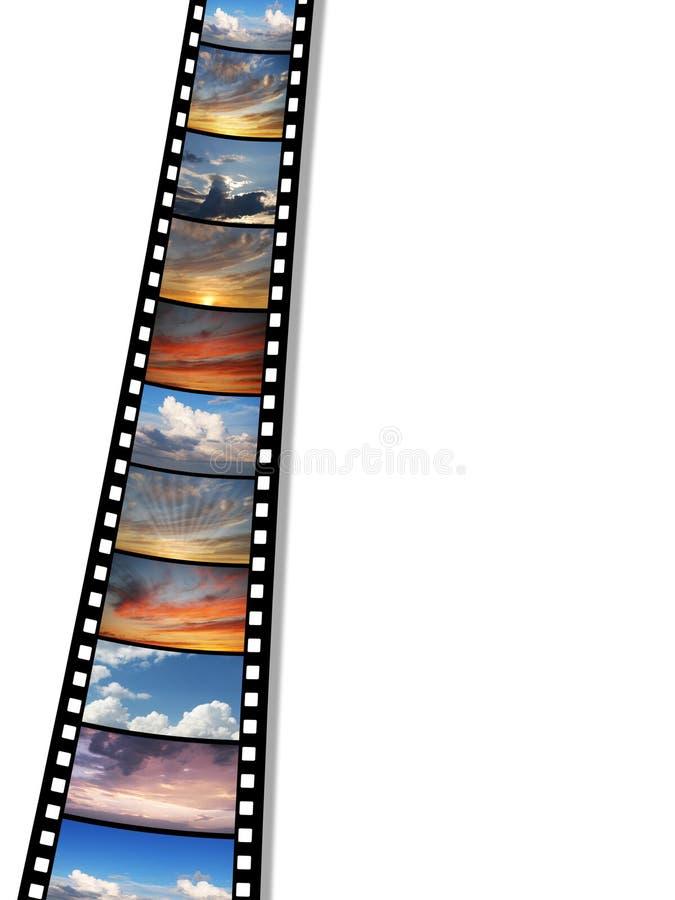 filmbildskies stock illustrationer