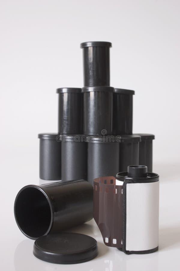 Filmbroodje en containers royalty-vrije stock fotografie