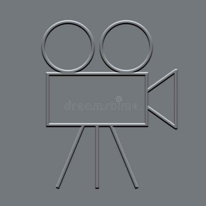 Filmcamera stock illustratie