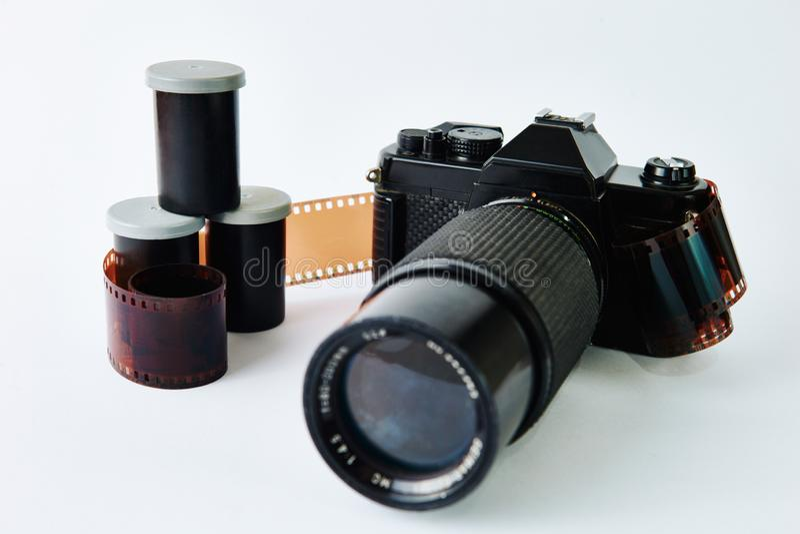 Filmcamera en film stock foto