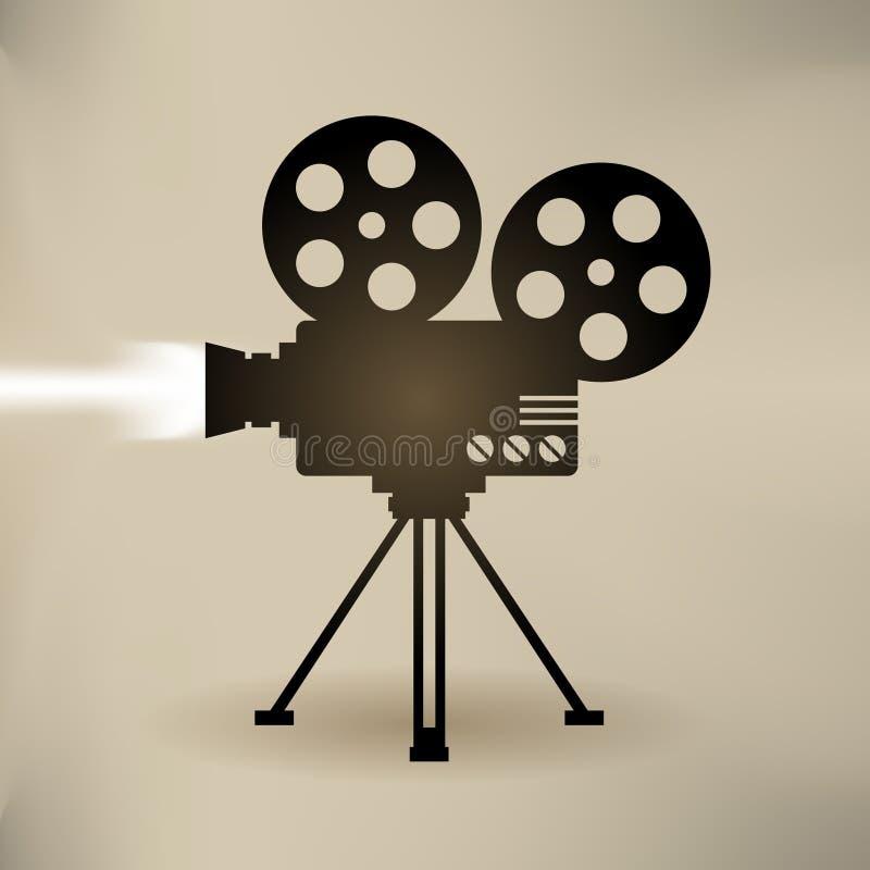 Filmcameraachtergrond royalty-vrije illustratie