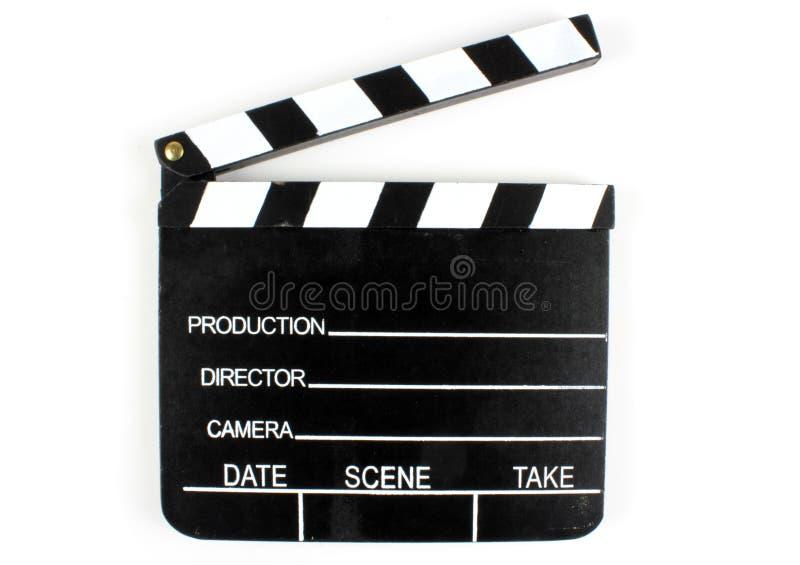 Filmclapper arkivfoto