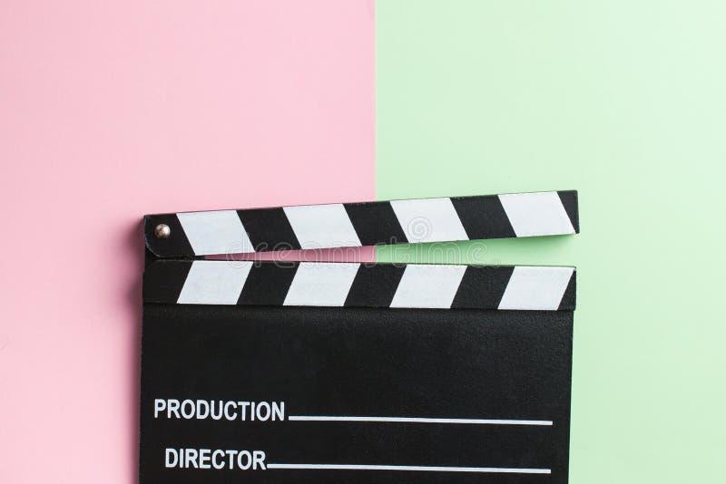 Filmclapper, clapperboard royaltyfria bilder