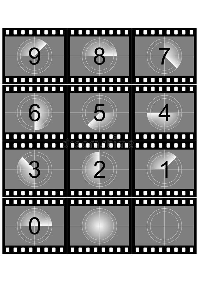 Filmcountdown vektor abbildung