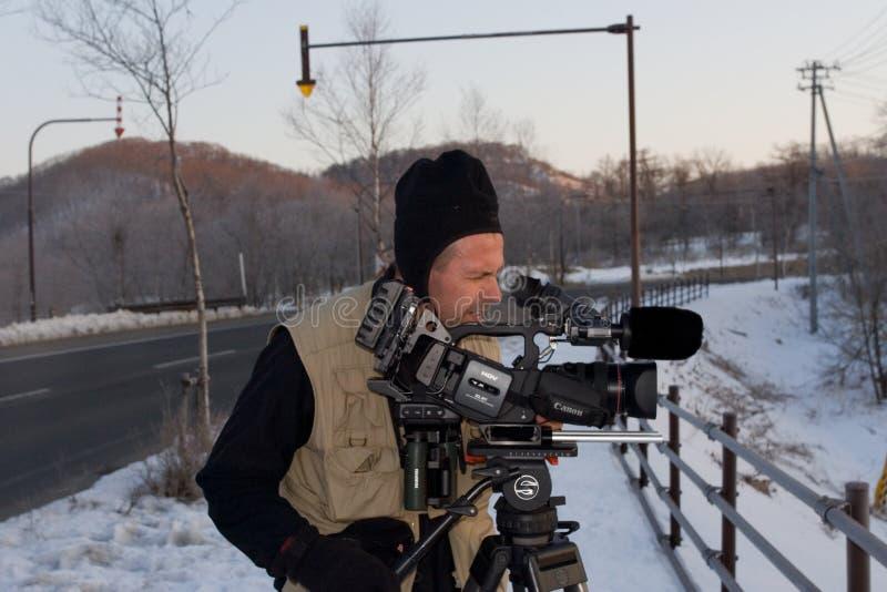 Filmcrew, Filmteam lizenzfreie stockfotografie