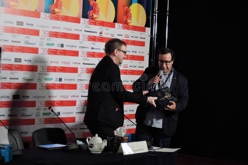Filmdirektör Vladimir Kott fotografering för bildbyråer