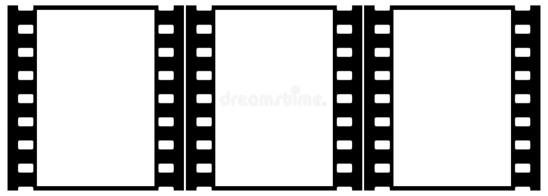 Filme (cromo, delicado) frames (corrediças, grupo, verticais) ilustração do vetor