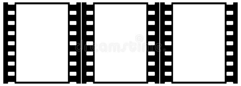 Filme (cromo, suavidad) los marcos (diapositivas, grupo, verticales) ilustración del vector