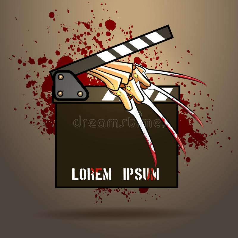 Filme de terror ilustração stock