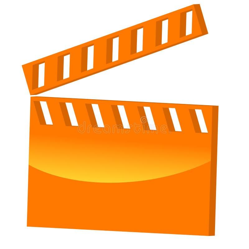 filme do símbolo 3D ilustração stock