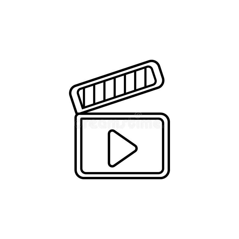 Filme icon Elemento da ilustração do teatro Ícone superior do projeto gráfico da qualidade Sinais e ícone para Web site, design w ilustração stock