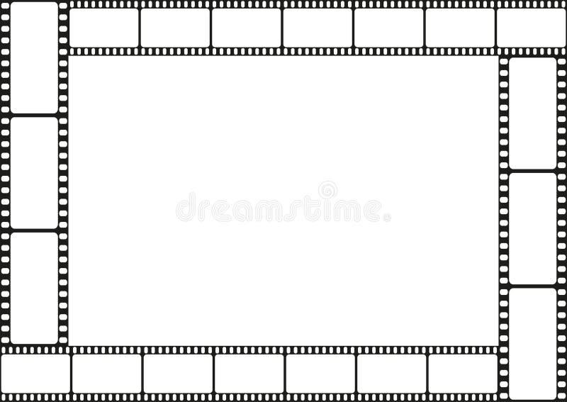 Filme la frontera de la plantilla de la tira, marco del cine, vector libre illustration