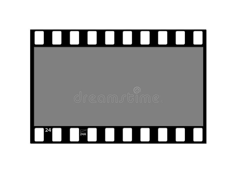 Filme la negativa de la tira ilustración del vector