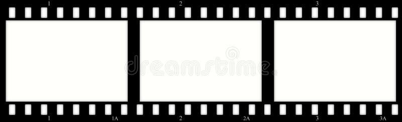 Filme los marcos (del cromo) (las diapositivas) ilustración del vector