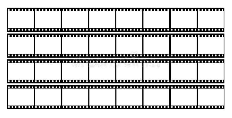 filme o frame dos frames da tira ilustração stock
