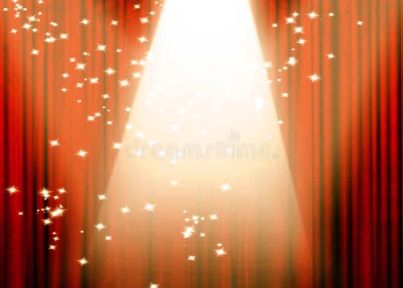 Filme ou cortina do teatro ilustração stock