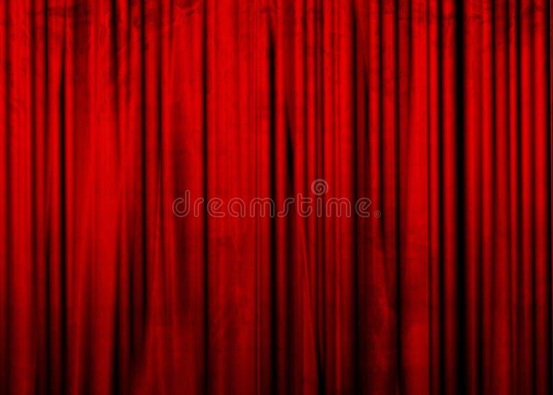 Filme ou cortina do teatro ilustração royalty free