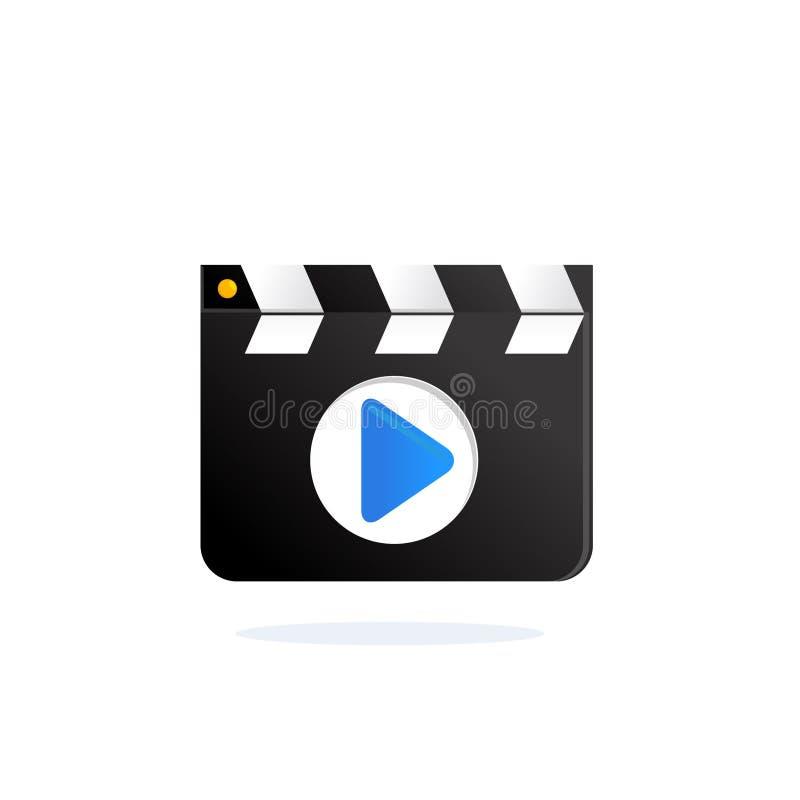 Filme que faz a ripa Vetor da placa de válvula do diretor ilustração royalty free