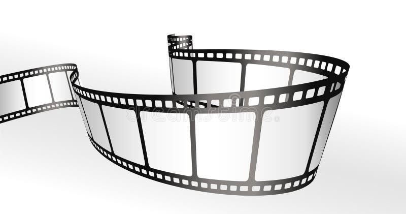 Filme tiras ilustração stock