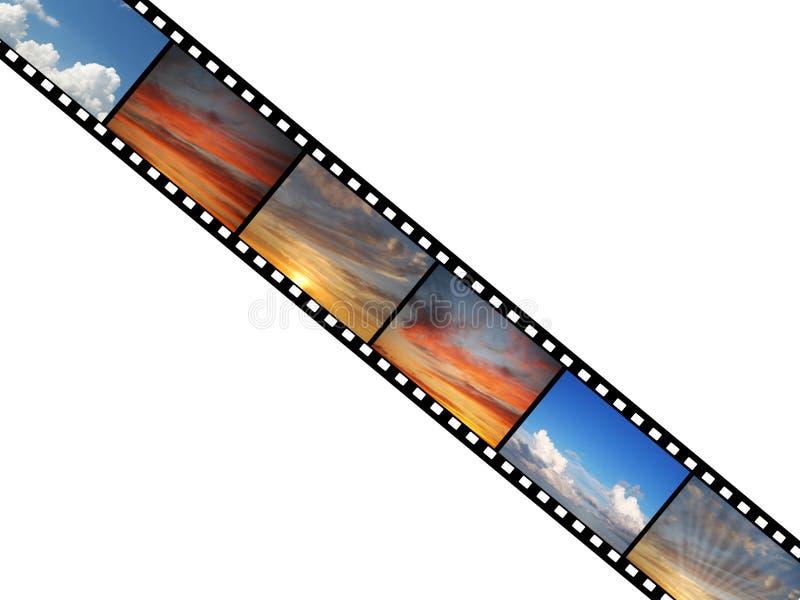 filmen fotograferar skyen vektor illustrationer