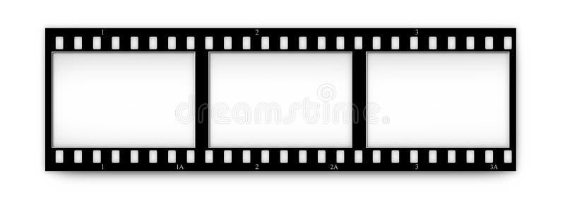 Filmen Sie (Chrom, Weiche) Felder (Plättchen) mit in.frames vektor abbildung