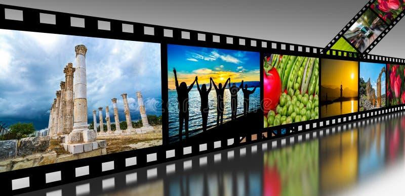 Filmen Sie Streifen lizenzfreies stockfoto