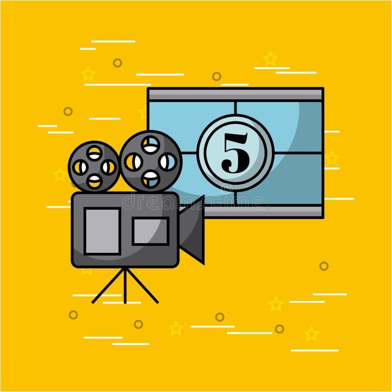 Filmer och biobegrepp royaltyfri illustrationer