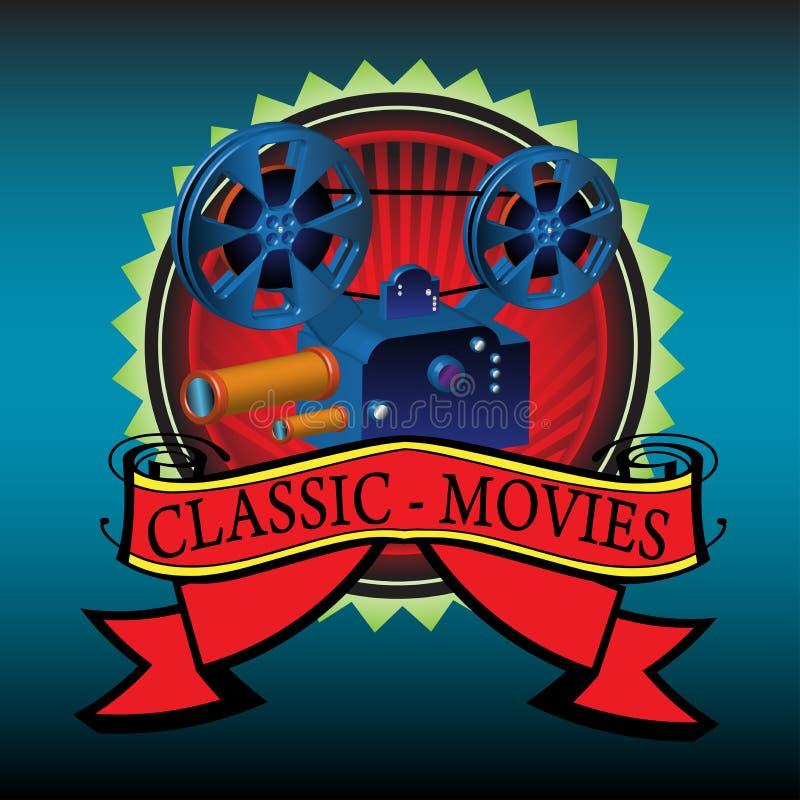 Filmes clássicos ilustração do vetor