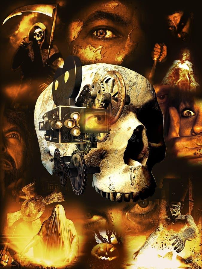 Filmes de terror ilustração royalty free