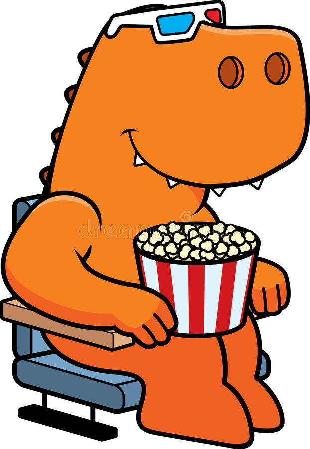 Filmes do dinossauro 3D dos desenhos animados ilustração royalty free