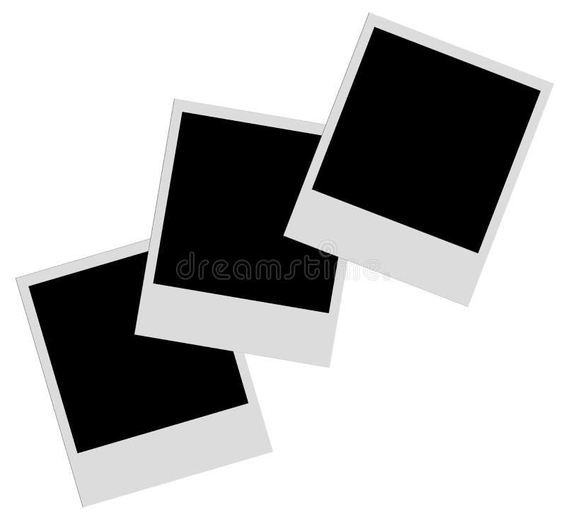 Filmes do Polaroid imagem de stock
