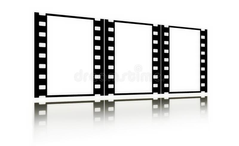 Filmez (chrome, doux) les trames (dans le point de vue, vertical) illustration libre de droits