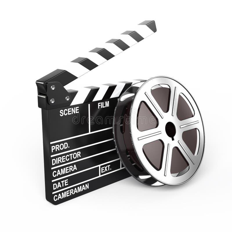 Filmez et battez le panneau illustration libre de droits