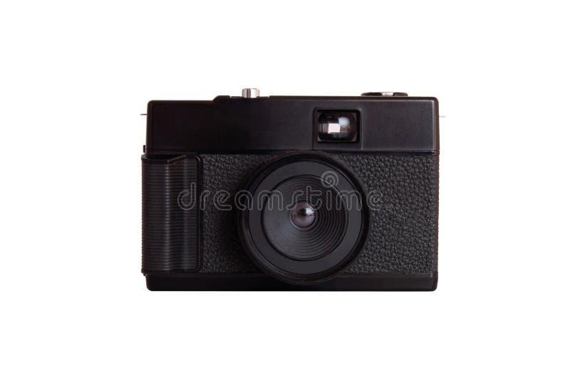 Filmez l'appareil-photo, le vieil appareil-photo ou l'appareil-photo de télémètre d'isolement sur le fond blanc photos stock