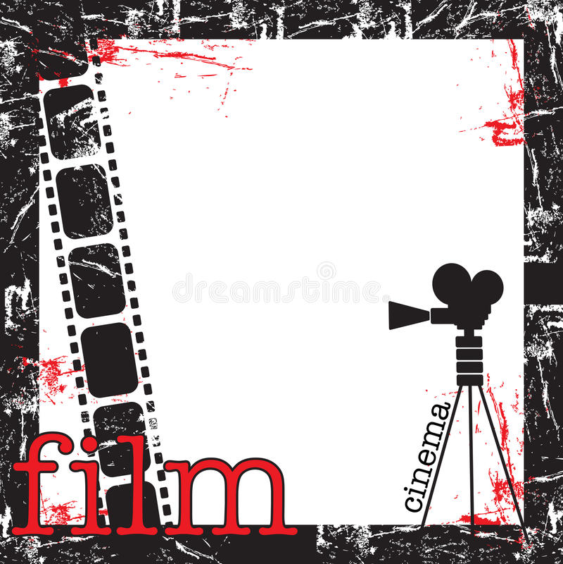 Filmfeld vektor abbildung
