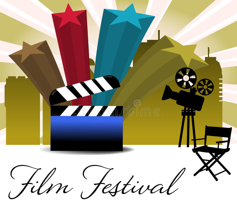 Filmfestival stock illustratie