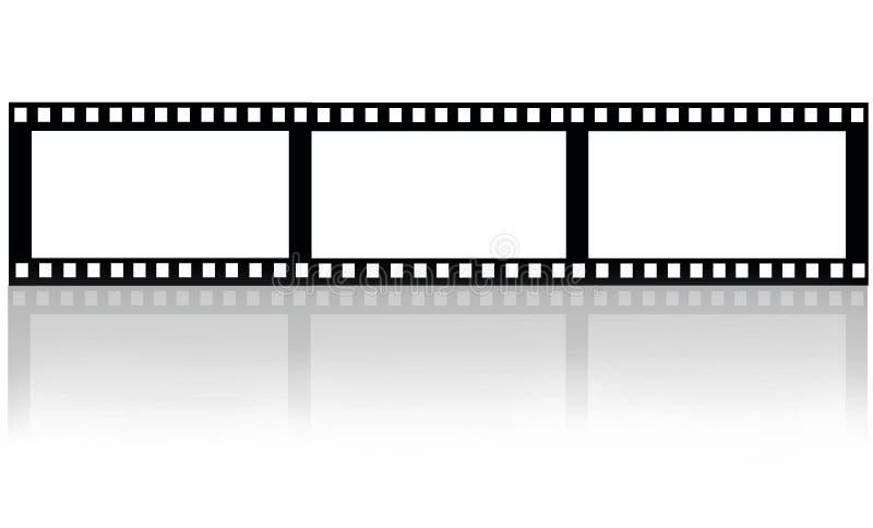 Filmfilm på vit stock illustrationer